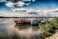 Schiffe auf der Donau in Rousse (Bulgarien)