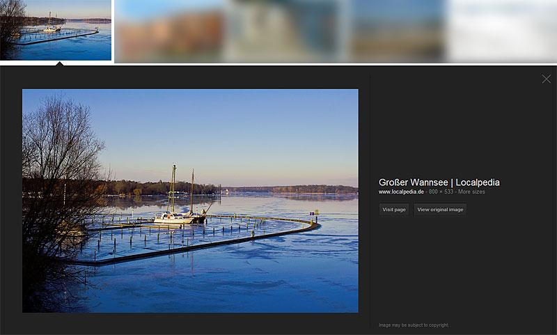 Klauschwein: Die neue Google Bildersuche zeigt meine Bilder groß an
