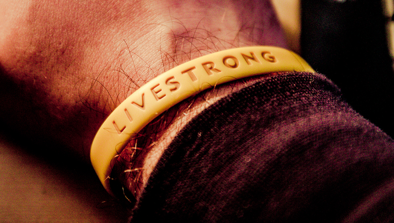 Mein Livestrong-Armband