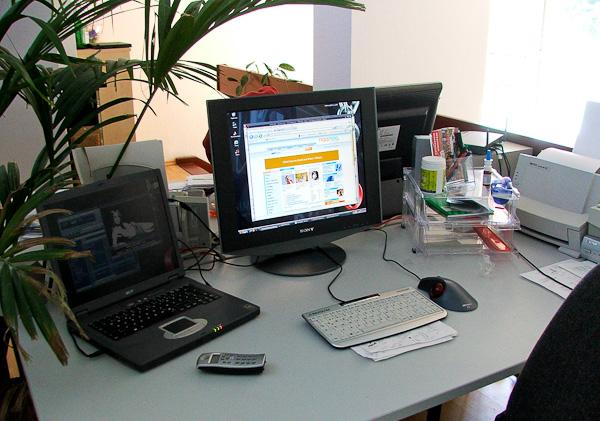 mein Arbeitsplatz 2005